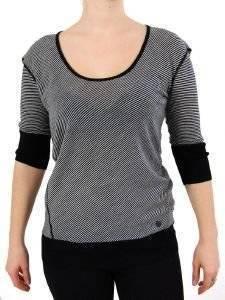 ΠΟΥΛΟΒΕΡ DKNY MERINO ΡΙΓΕ ΑΣΠΡΟ/ΜΑΥΡΟ ένδυση  amp  υπόδηση προσφορεσ γυναικα μπλουζεσ πουλοβερ