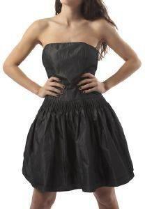 ΦΟΡΕΜΑ DKNY LUREX STRAPLESS ΑΝΘΡΑΚΙ ΜΕΤΑΛΛΙΖΕ (L) ένδυση προσφορεσ γυναικα φουστεσ φορεματα φορεματα