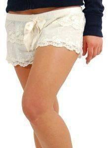ΣΟΡΤΣΑΚΙ BABY DOLL ABERCROMBIE - FITCH ΔΑΝΤΕΛΩΤΟ ΚΡΕΜ (M) ένδυση γυναικα homewear παντελονια
