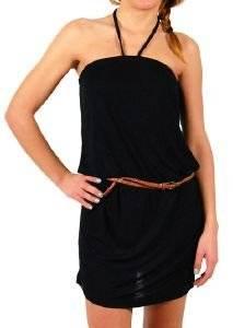 ΦΟΡΕΜΑ STRAPLESS RAGWEAR CHICKA ΜΑΥΡΟ ΜΕ ΔΕΡΜΑΤΙΝΗ ΖΩΝΗ ένδυση προσφορεσ γυναικα φουστεσ φορεματα φορεματα