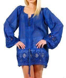ΤΟΥΝΙΚ BUFFALO ΜΠΛΕ (S) ένδυση  amp  υπόδηση προσφορεσ γυναικα μπλουζεσ μπλουζεσ μακρυμανικεσ