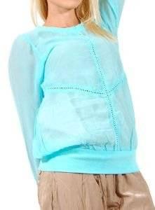 ΤΟΥΝΙΚ BUFFALO ΓΑΛΑΖΙΟ (S) ένδυση  amp  υπόδηση προσφορεσ γυναικα μπλουζεσ μπλουζεσ μακρυμανικεσ