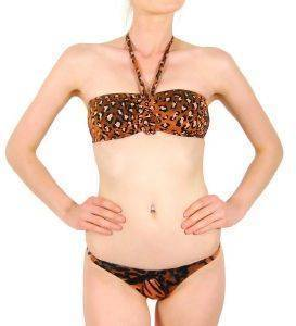 BIKINI SET F.X. MONTERO ΤΙΓΡΕ ΚΑΦΕ (38Β) ένδυση  amp  υπόδηση γυναικα μαγιο bikini set