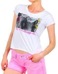 CROP TOP STAFF JEANS ZOE ΛΕΥΚΟ ένδυση  amp  υπόδηση γυναικα t shirts crop top
