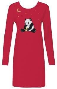 ΝΥΧΤΙΚΟ TRIUMPH PANDA LOVE NDK 01 ΚΟΚΚΙΝΟ  γυναικα homewear νυχτικα