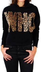 HOODIE ALCOTT WHO ΜΑΥΡΟ (L) ένδυση  amp  υπόδηση προσφορεσ γυναικα μπλουζεσ φουτερ