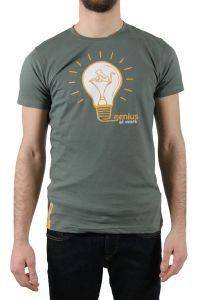 T-SHIRT DRUNKNMUNKY GENIUS ΣΚΟΥΡΟ ΠΡΑΣΙΝΟ (S) ένδυση  amp  υπόδηση προσφορεσ ανδρασ t shirts λαιμοκοψη