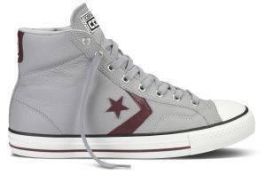 ΜΠΟΤΑΚΙ CONVERSE ALL STAR PLAYER LEATHER HI LUCKY STONE/OXHEART (EUR:41) ένδυση ανδρασ sneakers all star μποτακι