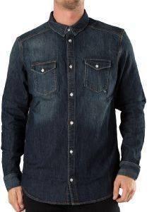 ΠΟΥΚΑΜΙΣΟ JEAN WESC MACCOY ΣΚΟΥΡΟ ΜΠΛΕ Jean πουκάμισο  WESC με διακριτικά ξεβάμματα σε σκούρο μπλε χρώμα Έχει κανονική γραμμή μακριά μανίκια και κλείνει μικρά κουμπιά κατά μήκος Στο μπροστι