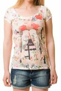 T-SHIRT ROCK THE OUTFIT TATTOED GIRL  ΠΟΛΥΧΡΩΜΗ