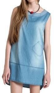 ΦΟΡΕΜΑ HELMI JEAN MINI ΜΠΛΕ (L) ένδυση γυναικα φορεματα casual