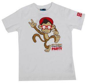 T-SHIRT DRUNKNMUNKY PARTY ΛΕΥΚΟ