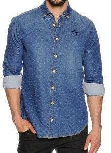 ΠΟΥΚΑΜΙΣΟ JEAN NEW ZEALAND 15CN554S ΜΕ ΣΧΕΔΙΟ ΜΠΛΕ Εντυπωσιακό jean πουκάμισο NEW ZEALAND με διακριτικό σχέδιο σε μπλε χρώμα Πρόκειται για ένα casual  κανονική εφαρμογή και μακριά μανίκια εντυπωσιακή μ