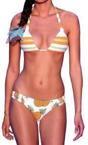 BIKINI SET POKO PANO ΜΕ ΡΙΓΕ ΣΧΕΔΙΟ - ΑΝΑΝΑΔΕΣ ΠΟΛΥΧΡΩΜΟ ένδυση  amp  υπόδηση γυναικα μαγιο bikini set