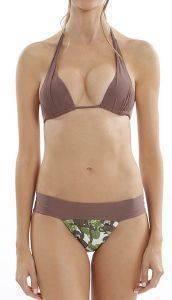 BIKINI SET POKO PANO ΜΕ ΣΧΕΔΙΟ ΜΑΙΜΟΥΔΕΣ ΚΑΦΕ/ΠΡΑΣΙΝΟ ένδυση  amp  υπόδηση γυναικα μαγιο bikini set