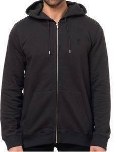 HOODIE ΜΕ ΦΕΡΜΟΥΑΡ WESC RAFFE ΜΑΥΡΟ ένδυση  amp  υπόδηση ανδρασ φουτερ hoodies με φερμουαρ
