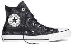 ΜΠΟΤΑΚΙ CONVERSE ALL STAR CHUCK TAYLOR ROSE PRINT 549643C BLACK/THUNDER (EUR:36. ένδυση γυναικα sneakers all star μποτακι