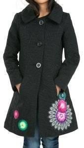 ΠΑΛΤΟ DESIGUAL BLEO ΜΑΥΡΟ ένδυση κοριτσι ενδυση μπουφαν jackets