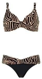 BIKINI SET TRIUMPH WILD ZEBRA TW ΚΑΦΕ ΣΚΟΥΡΟ  γυναικα μαγιο bikini set