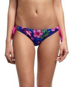 BIKINI BRIEF SUPERDRY PAINTED HIBISCUS TANGA ΣΚΟΥΡΟ ΜΠΛΕ ένδυση  amp  υπόδηση γυναικα μαγιο bikini briefs