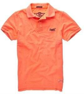 T-SHIRT POLO SUPERDRY VINTAGE DESTROYED FLUO ΠΟΡΤΟΚΑΛΙ ένδυση  amp  υπόδηση ανδρασ polo t shirts polo