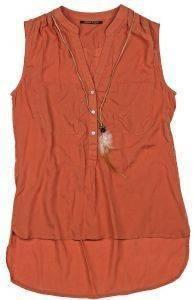 ΠΟΥΚΑΜΙΣΟ STAFF JEANS JUNE ΑΜΑΝΙΚΟ ΣΚΟΥΡΟ ΠΟΡΤΟΚΑΛΙ ένδυση  amp  υπόδηση γυναικα πουκαμισα κοντο μανικι