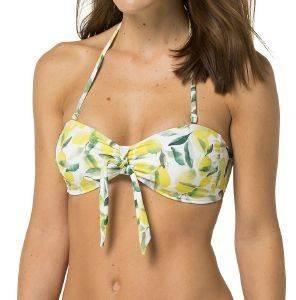 BIKINI TOP TOMMY HILFIGER GALA LEMON PRINT BANDEAU ΛΕΥΚΟ/ΚΙΤΡΙΝΟ/ΠΡΑΣΙΝΟ ένδυση γυναικα μαγιο bikini tops