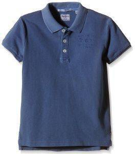 T-SHIRT POLO PEPE JEANS LUCA ΣΚΟΥΡΟ ΜΠΛΕ