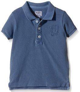 T-SHIRT POLO PEPE JEANS ROGER ΜΠΛΕ ΣΚΟΥΡΟ (NO 6)