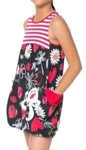 ΦΟΡΕΜΑ DESIGUAL JACKSON ΜΕ ΣΧΕΔΙΑ ΜΑΥΡΟ/ΚΟΚΚΙΝΟ/ΛΕΥΚΟ ένδυση κοριτσι ενδυση φορεματα