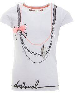 T-SHIRT DESIGUAL TENESSEE ΜΕ ΣΤΑΜΠΑ ΛΕΥΚΟ