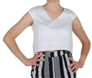 CROP TOP HELMI BY ANNA PRELEVIC ΛΕΥΚΟ ένδυση  amp  υπόδηση γυναικα t shirts crop top