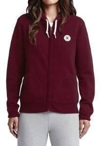HOODIE ΜΕ ΦΕΡΜΟΥΑΡ CONVERSE CORE ΜΠΟΡΝΤΩ ένδυση  amp  υπόδηση γυναικα φουτερ hoodies με φερμουαρ