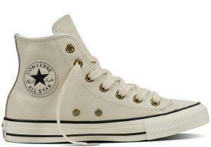 ΜΠΟΤΑΚΙ CONVERSE ALL STAR CHUCK TAYLOR WINTER KNIT-FUR HI 553367C PARCHMENT/BLAC ένδυση  amp  υπόδηση γυναικα sneakers all star μποτακι