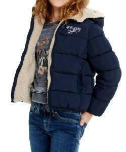 ΜΠΟΥΦΑΝ PEPE JEANS JANE JR ΣΚΟΥΡΟ ΜΠΛΕ ένδυση  amp  υπόδηση κοριτσι ενδυση μπουφαν jackets