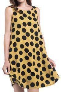 ΦΟΡΕΜΑ HELMI ΠΟΥΑ ME ΑΛΦΑ ΓΡΑΜΜΗ ΜΟΥΣΤΑΡΔΙ/ΜΑΥΡΟ ένδυση γυναικα φορεματα casual
