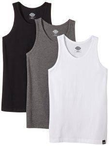 T-SHIRT DICKIES VEST ΜΑΥΡΟ/ΓΚΡΙ/ΛΕΥΚΟ (3ΤΜΧ) ένδυση  amp  υπόδηση ανδρασ t shirts λαιμοκοψη