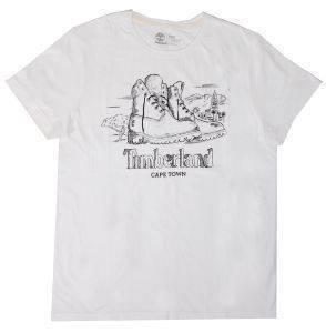 T-SHIRT TIMBERLAND NEW DESTINATION CAPE TOWN CA1LK4G18 ΛΕΥΚΟ ένδυση  amp  υπόδηση ανδρασ t shirts λαιμοκοψη