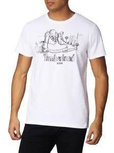 T-SHIRT TIMBERLAND NEW DESTINATION DUBAI CA1LK4G15 ΛΕΥΚΟ ένδυση  amp  υπόδηση ανδρασ t shirts λαιμοκοψη