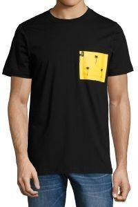 T-SHIRT WESC MAXWELL PALMS POCKET ΜΑΥΡΟ (M)