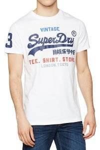 T-SHIRT SUPERDRY SHIRT SHOP ΛΕΥΚΟ ένδυση  amp  υπόδηση ανδρασ t shirts λαιμοκοψη