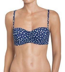 BIKINI TOP TRIUMPH PAINTED LEAVES MWDP 02 ΜΠΛΕ ΑΝΟΙΧΤΟ  bikini tops