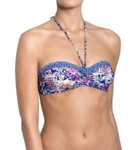 BIKINI TOP SLOGGI SWIM AQUA ROMANCE CTOWP02 ΣΚΟΥΡΟ ΜΠΛΕ  bikini tops
