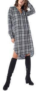 ΦΟΡΕΜΑ HELMI ΚΑΡΟ MIDI ΑΣΥΜΜΕΤΡΟ ΓΚΡΙ/ΜΑΥΡΟ ένδυση  amp  υπόδηση γυναικα φορεματα casual