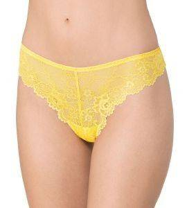 ΣΛΙΠΑΚΙ TRIUMPH TEMPTING LACE BRAZILIAN STRING ΚΙΤΡΙΝΟ