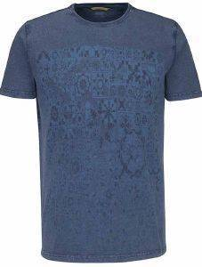 T-SHIRT CAMEL ACTIVE PRINT CD-438447-16 ΜΠΛΕ