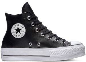 ΜΠΟΤΑΚΙ ΠΛΑΤΦΟΡΜΑ CONVERSE ALL STAR CHUCK TAYLOR LIFT CLEAN LEATHER 561675C BLACK