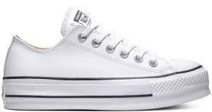 ΠΑΠΟΥΤΣΙ ΠΛΑΤΦΟΡΜΑ CONVERSE ALL STAR CHUCK TAYLOR LIFT CLEAN LEATHER 561680C WHITE/BLACK