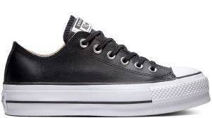 ΠΑΠΟΥΤΣΙ ΠΛΑΤΦΟΡΜΑ CONVERSE ALL STAR CHUCK TAYLOR LIFT CLEAN LEATHER 561681C BLACK