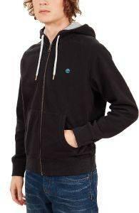 HOODIE ΜΕ ΦΕΡΜΟΥΑΡ TIMBERLAND EXETER RV CA1R76001 ΜΑΥΡΟ ένδυση  amp  υπόδηση ανδρασ φουτερ hoodies με φερμουαρ